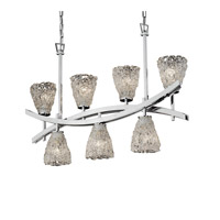 Archway 7 Light 6 inch Polished Chrome Chandelier Ceiling Light in Lace (Veneto Luce), Tapered Cylinder