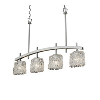 Justice Design Archway 4 Light Chandelier in Brushed Nickel GLA-8599-30-LACE-NCKL