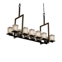 Justice Design Veneto Luce Montana 12-Up & 5-Downlight Bridge Chandelier (Tall) in Dark Bronze GLA-8619-26-WTFR-DBRZ