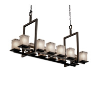 Justice Design Veneto Luce Montana 12-Up & 5-Downlight Bridge Chandelier (Short) in Dark Bronze GLA-8620-26-WTFR-DBRZ