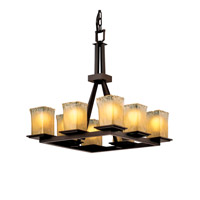 Justice Design Veneto Luce Montana 8-Light Ring Chandelier in Dark Bronze GLA-8666-26-GLDC-DBRZ