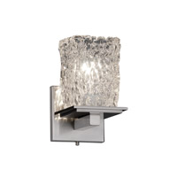 Justice Design Veneto Luce Montana 1-Light Wall Sconce in Brushed Nickel GLA-8671-26-CLRT-NCKL