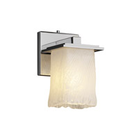Justice Design Veneto Luce Montana 1-Light Wall Sconce in Polished Chrome GLA-8671-26-WHTW-CROM