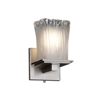 Justice Design Veneto Luce Montana 1-Light Wall Sconce in Brushed Nickel GLA-8671-26-WTFR-NCKL
