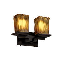 Justice Design Veneto Luce Montana 2-Light Bath Bar in Dark Bronze GLA-8672-26-AMBR-DBRZ