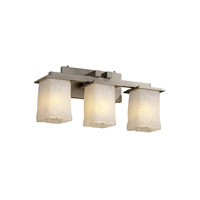 Justice Design Veneto Luce Montana 3-Light Bath Bar in Brushed Nickel GLA-8673-26-WHTW-NCKL