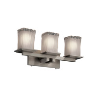 Justice Design Veneto Luce Montana 3-Light Bath Bar in Brushed Nickel GLA-8673-26-WTFR-NCKL