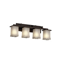 Justice Design Veneto Luce Montana 4-Light Bath Bar in Dark Bronze GLA-8674-26-WTFR-DBRZ