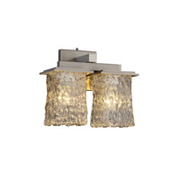 Justice Design Veneto Luce Montana 2-Light Wall Sconce in Brushed Nickel GLA-8675-26-CLRT-NCKL