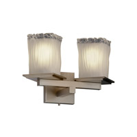 Justice Design Veneto Luce Montana 2-Light Wall Sconce (Angled Bobeche) in Brushed Nickel GLA-8680-26-WTFR-NCKL