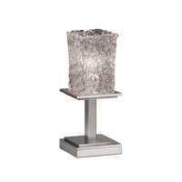 Justice Design Veneto Luce Montana 1-Light Table Lamp (Short) in Brushed Nickel GLA-8698-26-CLRT-NCKL