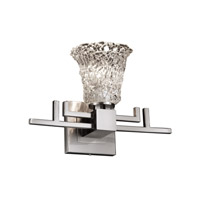 Justice Design Veneto Luce Aero 1-Light Wall Sconce in Brushed Nickel GLA-8701-20-LACE-NCKL