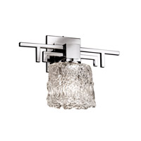 Justice Design Veneto Luce Aero 1-Light Wall Sconce in Polished Chrome GLA-8701-30-LACE-CROM