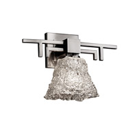 Justice Design GLA-8701-40-LACE-NCKL Veneto Luce 1 Light 14 inch Brushed Nickel Wall Sconce Wall Light in Lace (Veneto Luce), Square Flared photo thumbnail