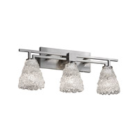 Justice Design Veneto Luce Aero 3-Light Bath Bar in Brushed Nickel GLA-8703-18-LACE-NCKL