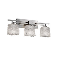 Justice Design Veneto Luce Aero 3-Light Bath Bar in Brushed Nickel GLA-8703-30-LACE-NCKL