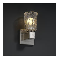 Justice Design Veneto Luce Aero 1-Light Wall Sconce (No Arms) in Brushed Nickel GLA-8705-16-CLRT-NCKL