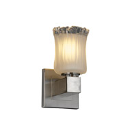 Justice Design Veneto Luce Aero 1-Light Wall Sconce (No Arms) in Brushed Nickel GLA-8705-16-WTFR-NCKL