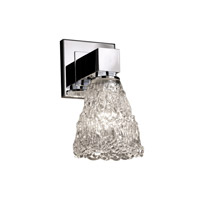 Justice Design Veneto Luce Aero 1-Light Wall Sconce (No Arms) in Polished Chrome GLA-8705-18-LACE-CROM