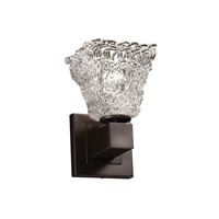 Justice Design Veneto Luce Aero 1-Light Wall Sconce (No Arms) in Dark Bronze GLA-8705-40-LACE-DBRZ