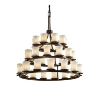 Justice Design Veneto Luce Dakota 36-Light 3-Tier Ring Chandelier in Dark Bronze GLA-8712-16-WHTW-DBRZ