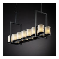 Justice Design Veneto Luce Dakota 14-Light Bridge Chandelier (Tall) in Matte Black GLA-8764-16-WHTW-MBLK
