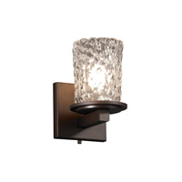 Justice Design Veneto Luce Dakota 1-Light Wall Sconce in Dark Bronze GLA-8771-16-CLRT-DBRZ