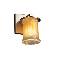 Justice Design GLA-8771-16-GLDC-NCKL Veneto Luce 1 Light 5 inch Brushed Nickel Wall Sconce Wall Light in Gold with Clear Rim (Veneto Luce) photo thumbnail