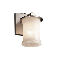 Justice Design Veneto Luce Dakota 1-Light Wall Sconce in Brushed Nickel GLA-8771-16-WHTW-NCKL