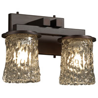 Justice Design Veneto Luce Dakota 2-Light Straight-Bar Bath Bar in Dark Bronze GLA-8772-16-CLRT-DBRZ