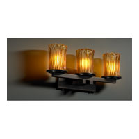 Justice Design GLA-8773-16-AMBR-DBRZ Veneto Luce 3 Light 21 inch Dark Bronze Bath Bar Wall Light in Amber (Veneto Luce)