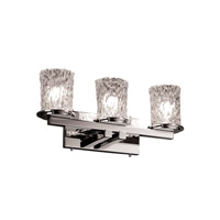 Justice Design GLA-8773-16-CLRT-CROM Veneto Luce 3 Light 21 inch Polished Chrome Bath Bar Wall Light in Clear Textured (Veneto Luce) photo thumbnail