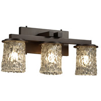 Justice Design GLA-8773-16-CLRT-DBRZ Veneto Luce 3 Light 21 inch Dark Bronze Bath Bar Wall Light in Clear Textured (Veneto Luce) photo thumbnail
