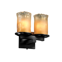 Justice Design Veneto Luce Dakota 2-Light Curved-Bar Wall Sconce in Matte Black GLA-8775-16-GLDC-MBLK