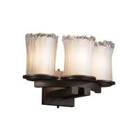 Justice Design Veneto Luce Dakota 3-Light Curved-Bar Wall Sconce in Dark Bronze GLA-8776-16-WTFR-DBRZ