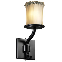 Justice Design Veneto Luce Sonoma 1-Light Wall Sconce (Short) in Matte Black GLA-8781-16-WTFR-MBLK