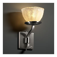 Justice Design Veneto Luce Sonoma 1-Light Wall Sconce (Short) in Brushed Nickel GLA-8781-36-WHTW-NCKL