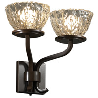Justice Design Veneto Luce Sonoma 2-Light Wall Sconce (Short) in Dark Bronze GLA-8782-36-CLRT-DBRZ