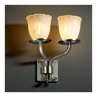 Justice Design Veneto Luce Sonoma 2-Light Wall Sconce (Short) in Brushed Nickel GLA-8782-56-WHTW-NCKL