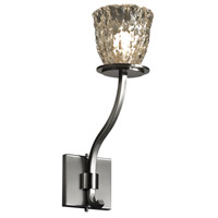 Justice Design Veneto Luce Sonoma 1-Light Wall Sconce (Tall) in Brushed Nickel GLA-8784-56-CLRT-NCKL