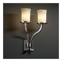 Justice Design Veneto Luce Sonoma 2-Light Wall Sconce (Tall) in Brushed Nickel GLA-8785-16-WHTW-NCKL photo thumbnail