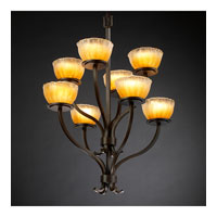 Justice Design Veneto Luce Sonoma 8-Light 2-Tier Chandelier in Dark Bronze GLA-8788-36-GLDC-DBRZ