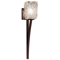 Justice Design Group Veneto Luce LED Wall Sconce in Dark Bronze GLA-8791-26-CLRT-DBRZ-LED1-700