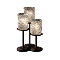 Justice Design Veneto Luce Dakota 3-Light Table Lamp in Dark Bronze GLA-8797-16-CLRT-DBRZ