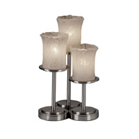 Justice Design Veneto Luce Dakota 3-Light Table Lamp in Brushed Nickel GLA-8797-16-WHTW-NCKL