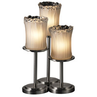 Justice Design Veneto Luce Dakota 3-Light Table Lamp in Brushed Nickel GLA-8797-16-WTFR-NCKL