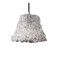 Justice Design GLA-8815-40-LACE-CROM Veneto Luce 1 Light 4 inch Polished Chrome Pendant Ceiling Light in Cord, Lace (Veneto Luce), Square Flared photo thumbnail