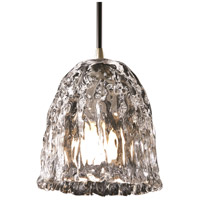Justice Design Veneto Luce Pendants Mini 1-Light Pendant in Antique Brass GLA-8815-56-CLRT-ABRS