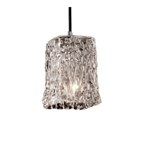 Justice Design Veneto Luce Pendants Small 1-Light Pendant in Polished Chrome GLA-8816-26-CLRT-CROM