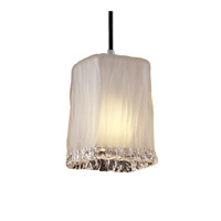 Justice Design GLA-8816-26-WTFR-CROM Veneto Luce 1 Light 5 inch Polished Chrome Pendant Ceiling Light in Cord, White Frosted (Veneto Luce) photo thumbnail
